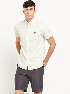 lyle-scott-short-sleeve-multicoloured-stitch-shirt