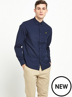 lyle-scott-long-sleeve-textured-stripe-shirt