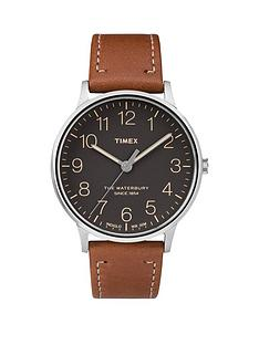 timex-timex-waterbury-black-dial-brown-strap-mens-watch