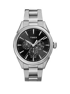 timex-timex-chesapeake-multi-function-black-dial-stainless-steel-bracelet-mens-watch
