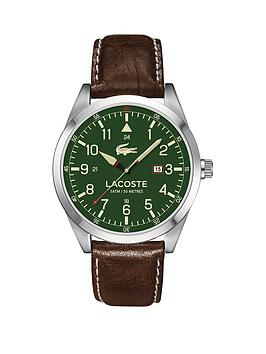 lacoste-lacoste-montreal-green-dial-brown-leather-strap-mens-watch