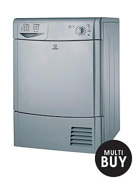 indesit-idc8t3bs-8kg-load-condenser-tumble-dryer-silver