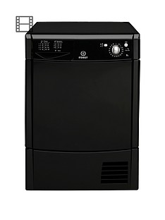 indesit-ecotime-idc8t3bk-8kg-condenser-tumble-dryer-black