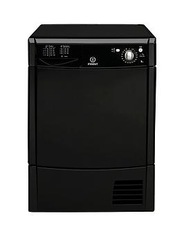 indesit-ecotime-idc8t3bk-8kg-condenser-tumble-dryer-black