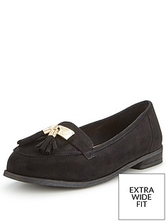 so-fabulous-lynda-extra-wide-fit-tasseled-loafer-black