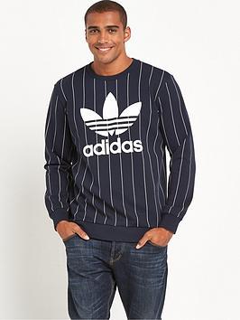 Adidas Originals Pin Stripe Tokyo Crew Neck Sweat