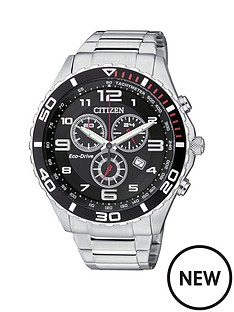 citizen-citizen-eco-drive-black-dial-chronograph-stainless-steel-mens-watch