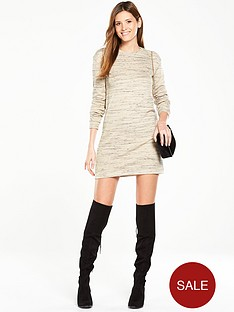 v-by-very-space-dye-metallic-sweater-dress