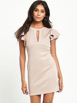 miss-selfridge-miss-selfridge-frill-slv-rib-keyhole-bodycon
