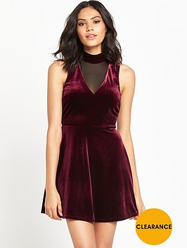 river-island-velvet-swing-dress-red