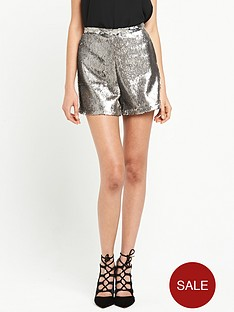 river-island-sequin-shorts-grey