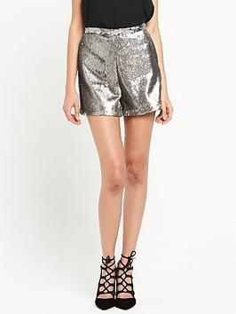 river-island-sequin-shorts-grey