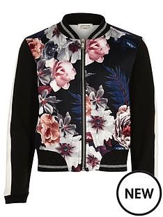 river-island-girls-black-floral-print-bomber-jacket