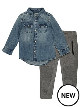 river-island-mini-boys-western-denim-shirt-and-grey-joggers