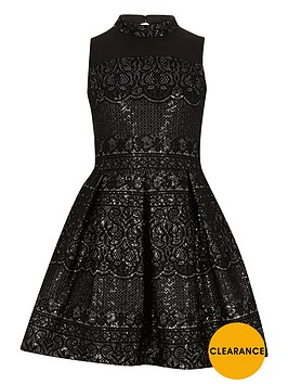 river-island-girls-black-sparkly-lace-high-neck-prom-dress