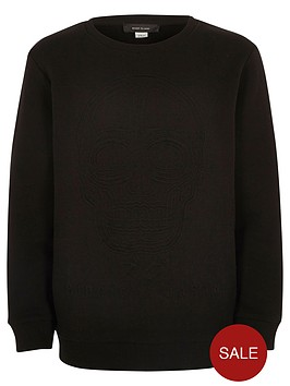 river-island-boys-black-embossed-skull-sweatshirt