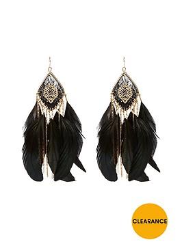 river-island-filigree-thread-feather-dangle-earrings
