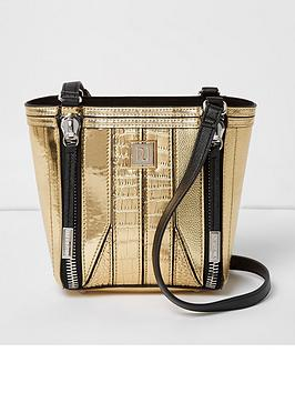 river-island-zip-front-detail-mini-bag-gold
