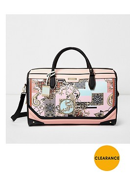 river-island-pink-scarf-printed-weekend-bag