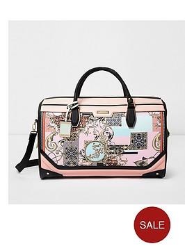 river-island-pink-scarf-printed-weekend-bag
