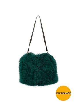 river-island-faux-mongolian-fur-bucket-bag-green