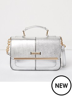 river-island-mini-satchel-silver