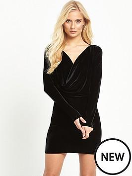 motel-zeva-ls-velvet-drape-mini-dress