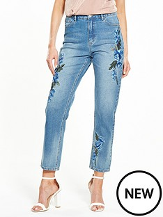 v-by-very-floral-girlfriend-jean-blue