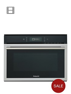 hotpoint-mp676ixh-60cm-built-in-combi-microwave-oven-with-grill-blackstainless-steel