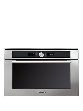Hotpoint Md454Ixh 60Cm Built In Microwave Oven With Grill  Stainless Steel
