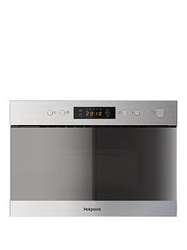 Hotpoint Mn314Ixh 60Cm Built In Microwave Grill  Stainless Steel