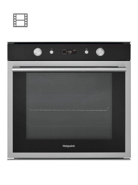 hotpoint-class-6nbspsi6864shix-60cm-built-in-electric-single-oven-blackstainless-steel