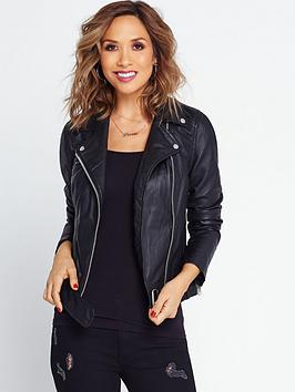 Myleene Klass Leather Jacket  Black