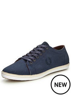 fred-perry-kingston-coated-canvas-plimsolls