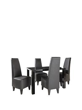 atlantic-120-cm-gloss-dining-table-4-manhattan-chairs-buy-and-save