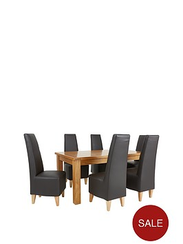 oakland-170-cm-solid-oak-dining-table-6-new-manhattan-chairs-buy-and-save