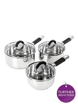 tower-essentials-3-piece-pan-set-ndash-stainless-steel