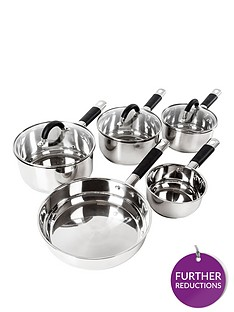 tower-essentials-5-piece-stainless-steel-pan-set