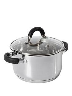 tower-essentials-24cm-stainless-steel-casserole-dish