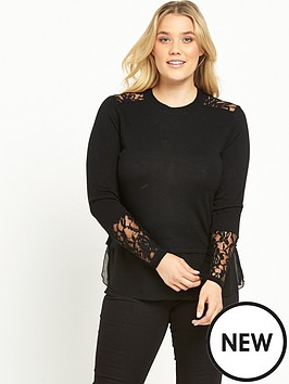 lost-ink-curve-lace-panel-jumper-black