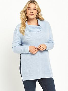lost-ink-curve-cowl-neck-jumper-blue