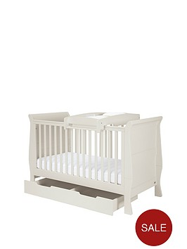 mamas-papas-mia-cot-bed-under-bed-storage-amp-cot-top-changer-grey