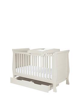 Mamas & Papas Mia Cot Bed Under Bed Storage &Amp Cot Top Changer  Grey