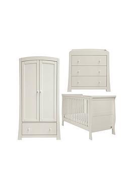 Mamas & Papas Mamas &Amp Papas Mia Sleigh Cot Bed Dresser &Amp Wardrobe Grey
