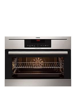 Aeg Kp8404021M Compact Electric BuiltIn Single Oven  Stainless Steel