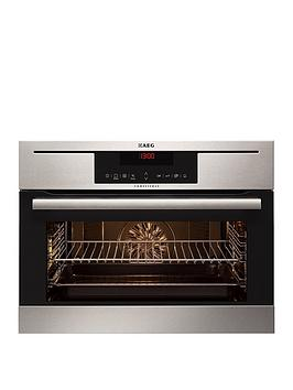 Aeg Ke8404021M Compact Electric BuiltIn Compact Single Oven  Stainless Steel
