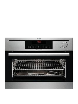 Aeg Ks8404721M Electric BuiltIn Steam Oven  Stainless Steel