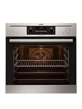 Aeg Bp501432Wm Built In Electric Single Oven With Steam Function  Stainless Steel