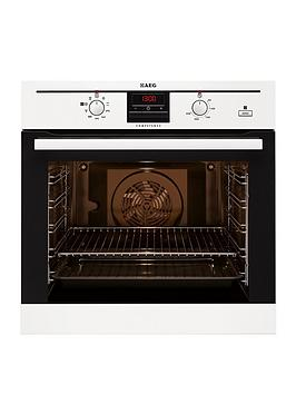 Aeg Be300362Kw BuiltIn Electric Oven With Steam Function  White