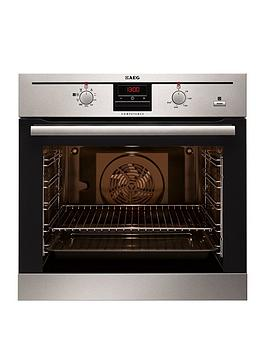 Aeg Be300362Km Electric Single BuiltIn Oven With Steam Function  Stainless Steel